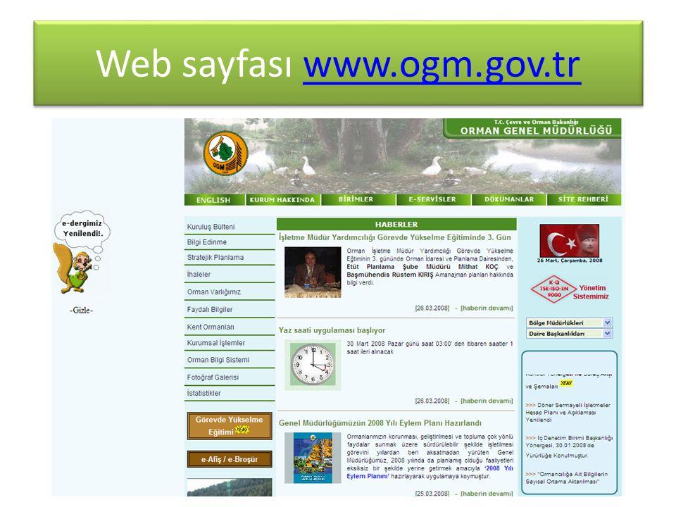 Web sayfası www.ogm.gov.trwww.ogm.gov.tr Web sayfası www.ogm.gov.trwww.ogm.gov.tr