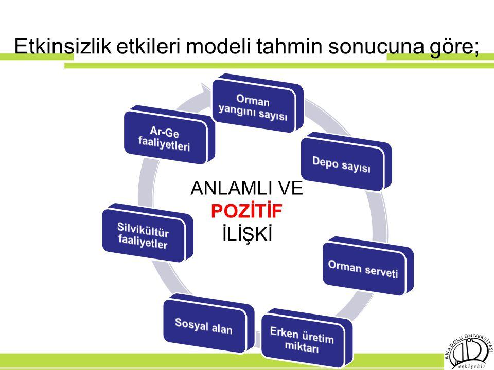 Etkinsizlik etkileri modeli tahmin sonucuna göre; ANLAMLI VE POZİTİF İLİŞKİ