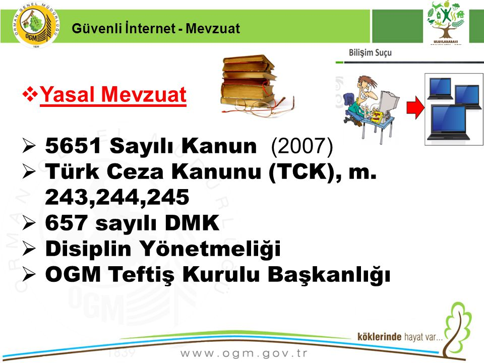16/12/2010 Kurumsal Kimlik 3  Yasal Mevzuat  5651 Sayılı Kanun (2007)  Türk Ceza Kanunu (TCK), m. 243,244,245  657 sayılı DMK  Disiplin Yönetmeli