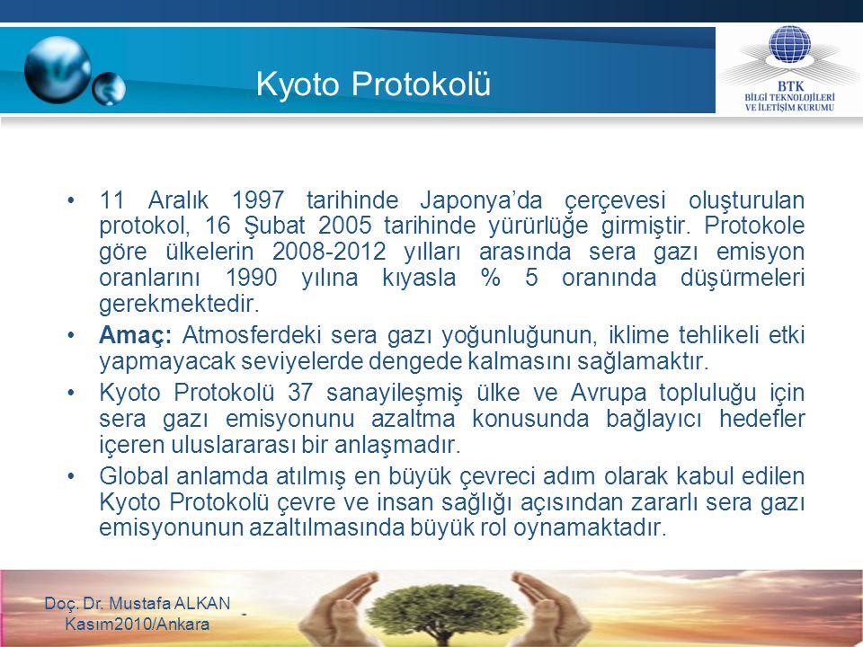 11 Aralık 1997 tarihinde Japonya'da çerçevesi oluşturulan protokol, 16 Şubat 2005 tarihinde yürürlüğe girmiştir. Protokole göre ülkelerin 2008-2012 yı