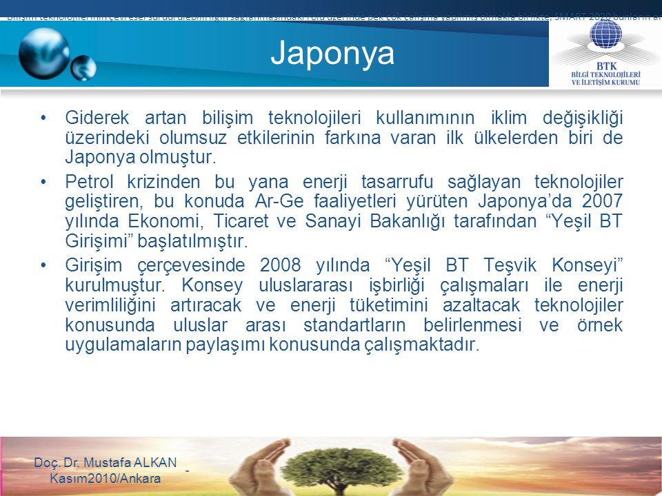 Japonya Giderek artan bilişim teknolojileri kullanımının iklim değişikliği üzerindeki olumsuz etkilerinin farkına varan ilk ülkelerden biri de Japonya