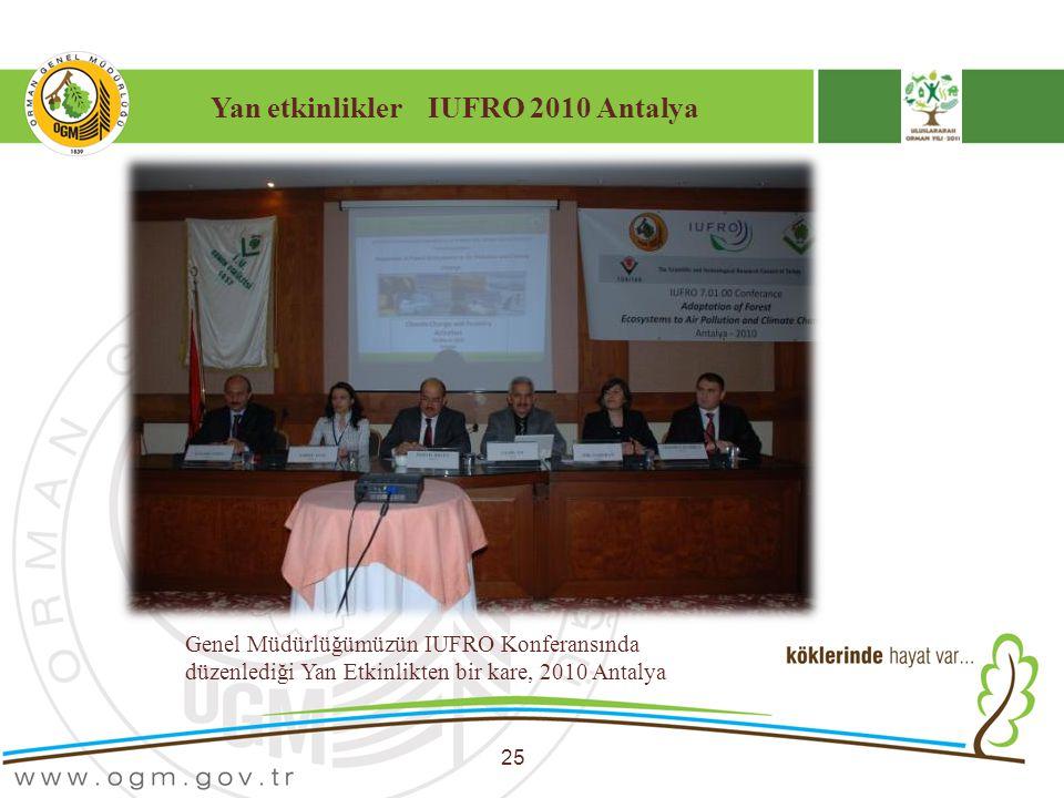 Yan etkinlikler IUFRO 2010 Antalya 25 Genel Müdürlüğümüzün IUFRO Konferansında düzenlediği Yan Etkinlikten bir kare, 2010 Antalya