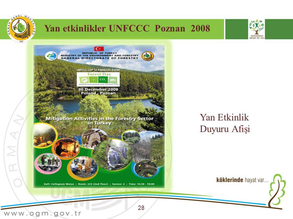 Yan etkinlikler UNFCCC Poznan 2008 28 Yan Etkinlik Duyuru Afişi