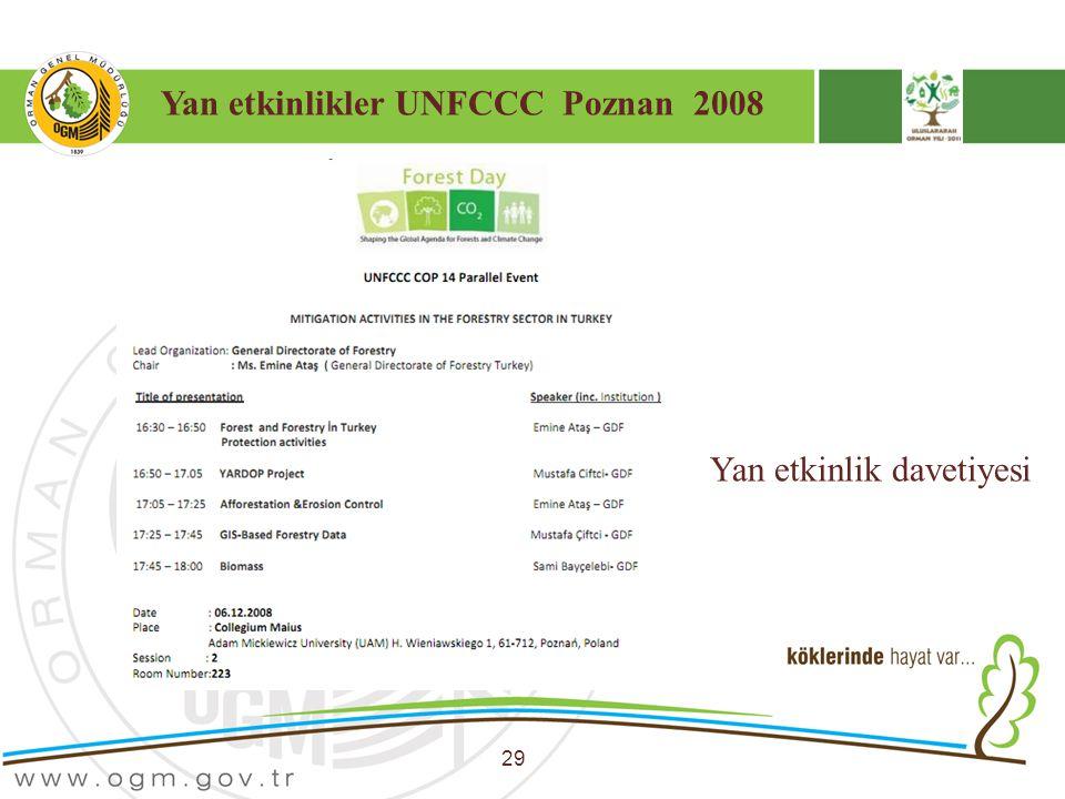 Yan etkinlikler UNFCCC Poznan 2008 29 Yan etkinlik davetiyesi