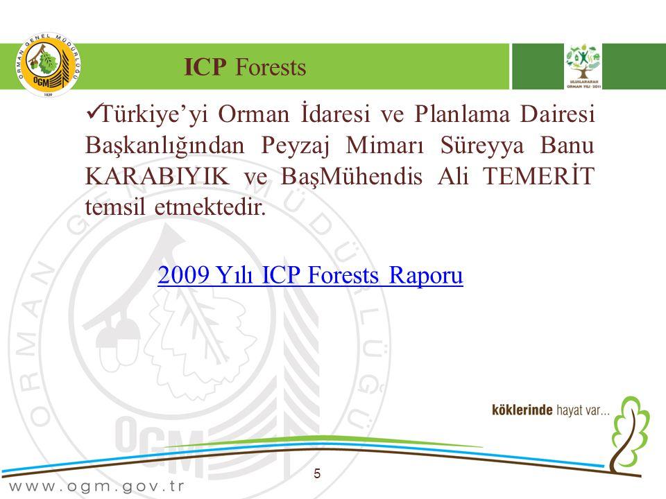 ICP Forests 5 Türkiye'yi Orman İdaresi ve Planlama Dairesi Başkanlığından Peyzaj Mimarı Süreyya Banu KARABIYIK ve BaşMühendis Ali TEMERİT temsil etmek