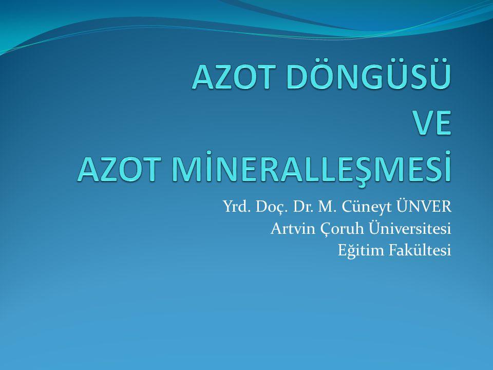 Yrd. Doç. Dr. M. Cüneyt ÜNVER Artvin Çoruh Üniversitesi Eğitim Fakültesi