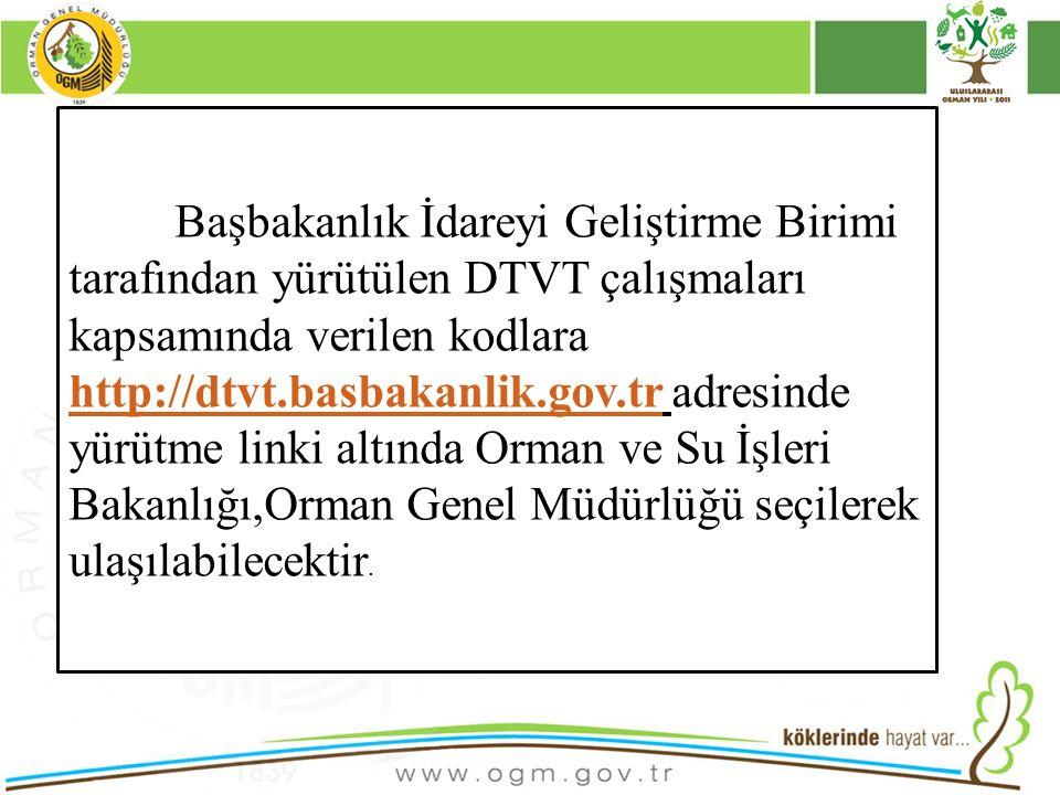 16/12/2010 Kurumsal Kimlik 16 Başbakanlık İdareyi Geliştirme Birimi tarafından yürütülen DTVT çalışmaları kapsamında verilen kodlara http://dtvt.basba