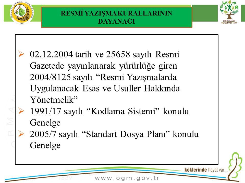 16/12/2010 Kurumsal Kimlik 13 Resmi yazıların sayı bölümünde kullanılan Haberleşme Kodları, kurumların teşkilat yapılarında meydana gelen değişikliklere paralel olarak sürekli değişmekteydi.