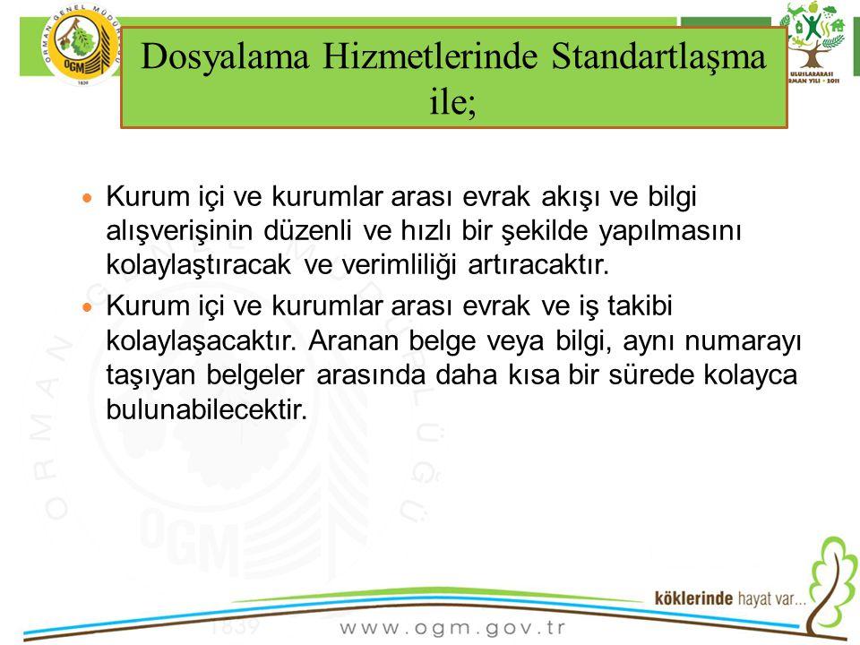 16/12/2010 Kurumsal Kimlik 32 Kurum içi ve kurumlar arası evrak akışı ve bilgi alışverişinin düzenli ve hızlı bir şekilde yapılmasını kolaylaştıracak