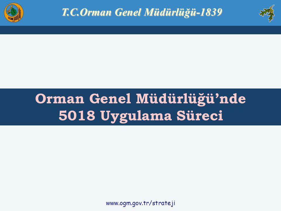 www.ogm.gov.tr/strateji T.C.Orman Genel Müdürlüğü-1839 Orman Genel Müdürlüğü'nde 5018 Uygulama Süreci