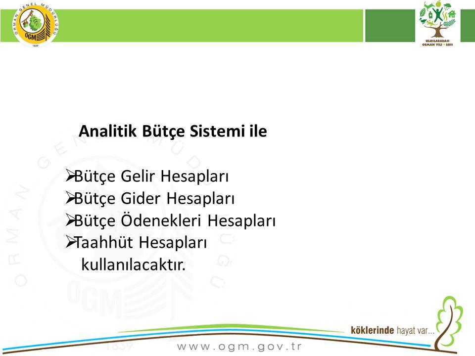 16/12/2010 Kurumsal Kimlik 4 Analitik Bütçe Sistemi ile  Bütçe Gelir Hesapları  Bütçe Gider Hesapları  Bütçe Ödenekleri Hesapları  Taahhüt Hesapları kullanılacaktır.