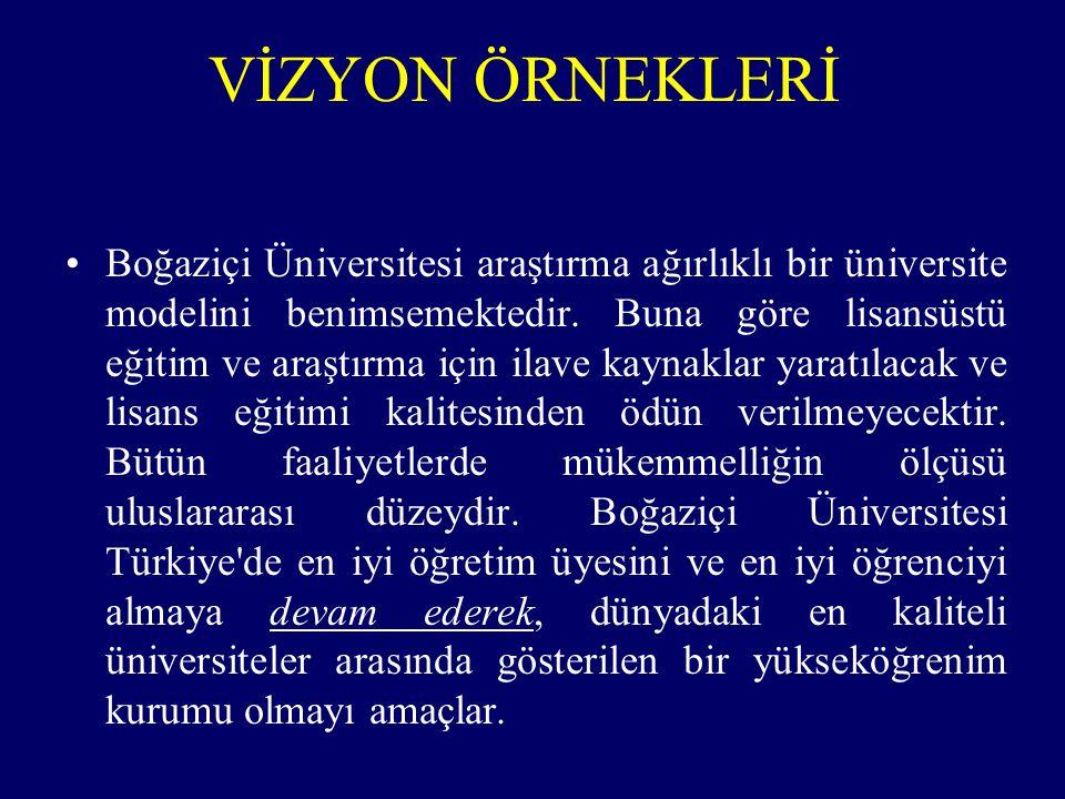 Boğaziçi Üniversitesi araştırma ağırlıklı bir üniversite modelini benimsemektedir.