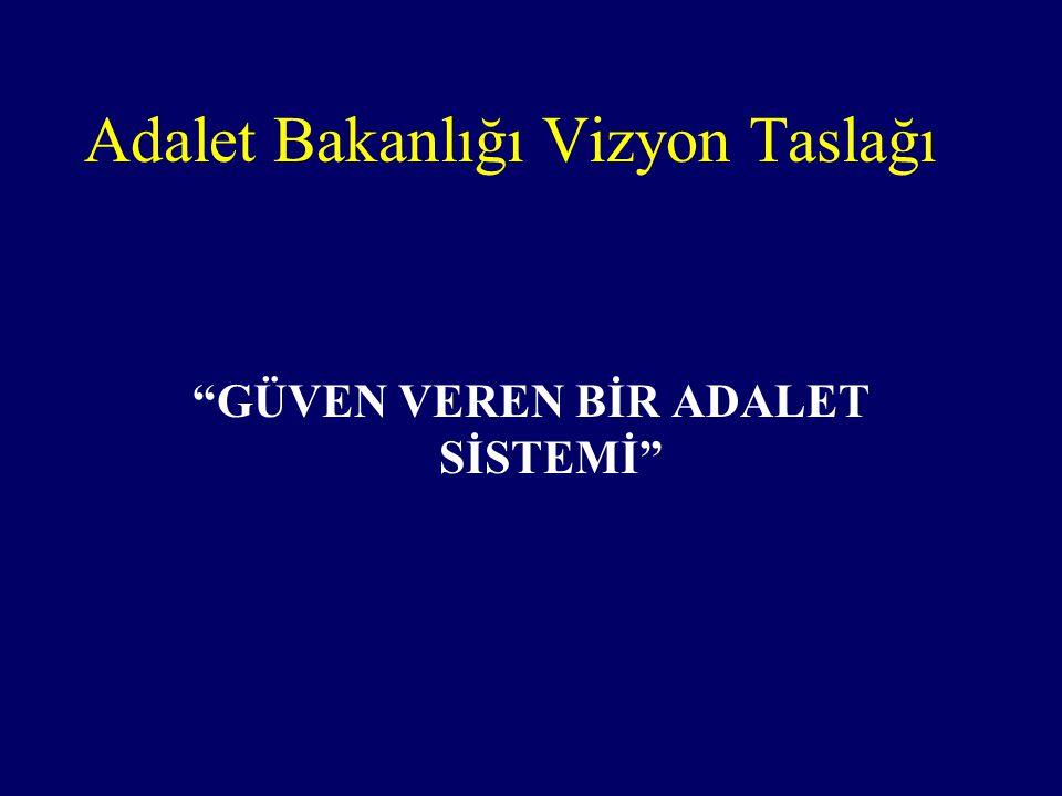 GÜVEN VEREN BİR ADALET SİSTEMİ Adalet Bakanlığı Vizyon Taslağı