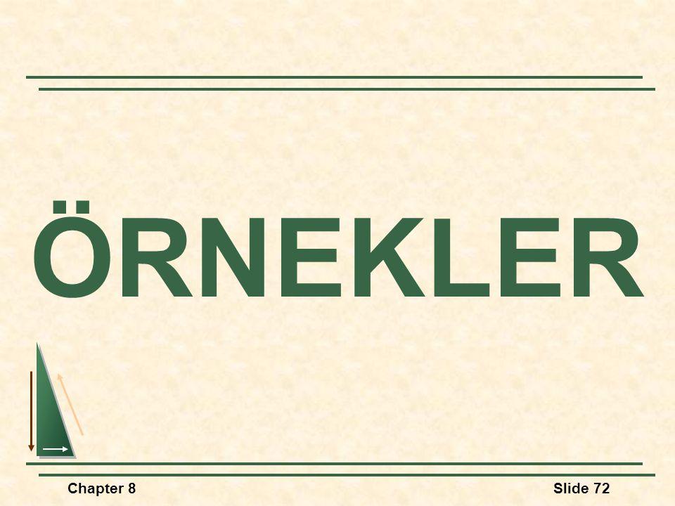 Chapter 8Slide 72 ÖRNEKLER