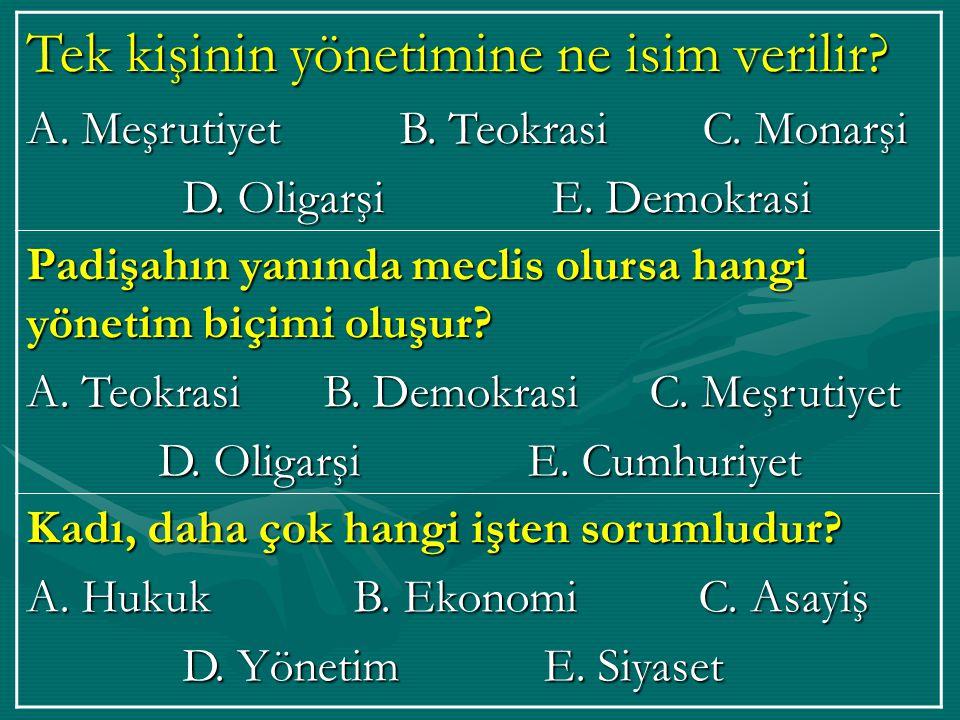 Osmanlıda maliyeden sorumlu kişi kimdir.A. Nişancı B.