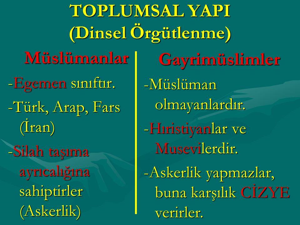 not: Osmanlı Devleti'nde toplumun ümmet esasına göre örgütlenmesi devletin teokratik yapısını kanıtlar.Osmanlı Devleti'nde toplumun ümmet esasına göre örgütlenmesi devletin teokratik yapısını kanıtlar.