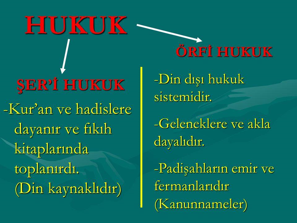 not-1: Osmanlıda, fethedilen ülkelerin yerel hukuk sistemleri de uygulanmıştır.Osmanlıda, fethedilen ülkelerin yerel hukuk sistemleri de uygulanmıştır.