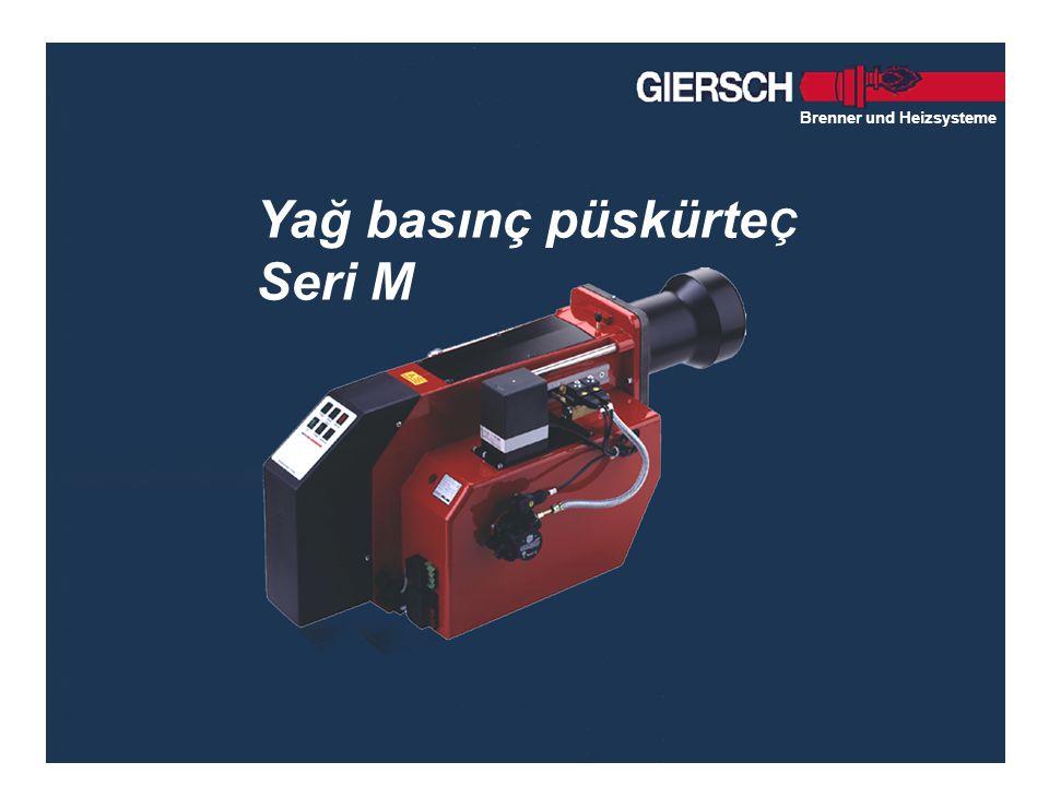 Brenner und Heizsysteme Yağ basınç püskürte Ç Seri M Brenner und Heizsysteme