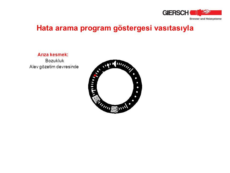 Hata arama program göstergesi vasıtasıyla Arıza kesmek: Bozukluk Alev gözetim devresinde
