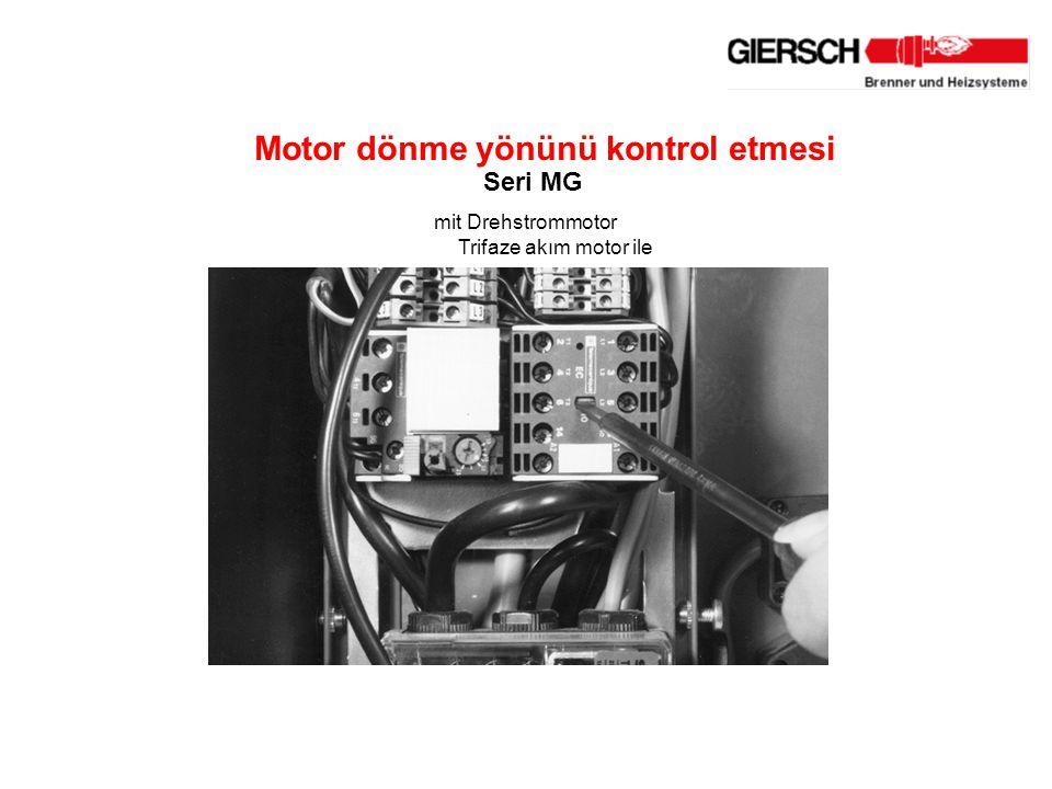 mit Drehstrommotor Motor dönme yönünü kontrol etmesi Seri MG Trifaze akım motor ile
