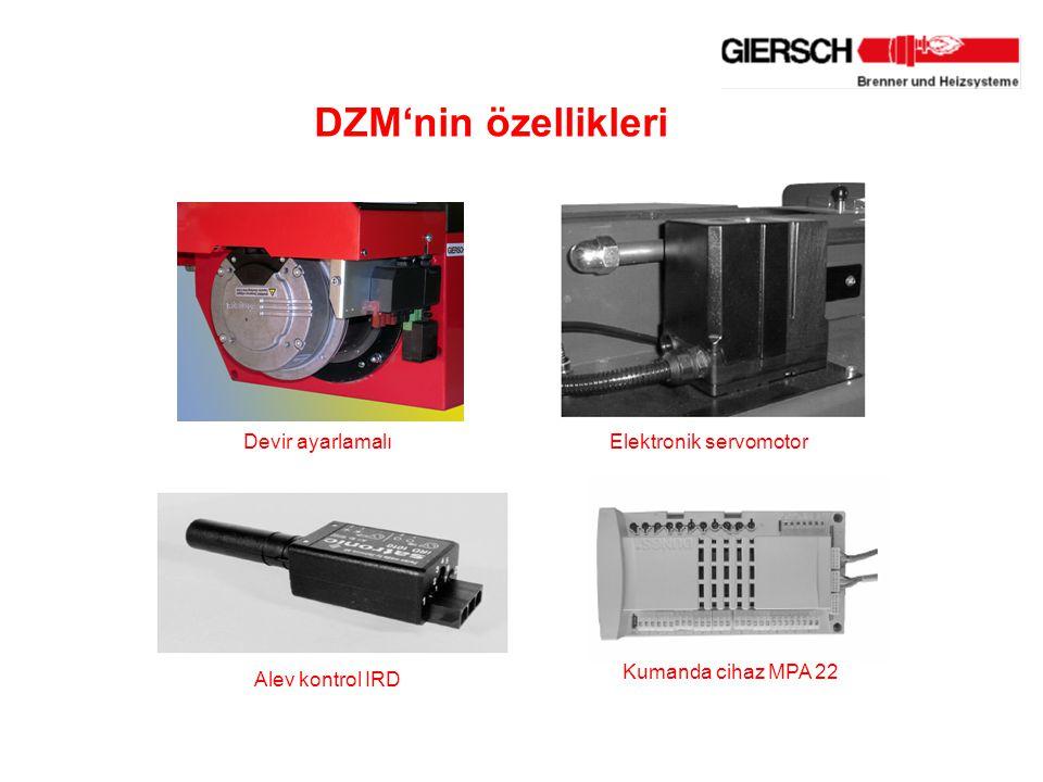 DZM'nin özellikleri Elektronik servomotor Alev kontrol IRD Kumanda cihaz MPA 22 Devir ayarlamalı