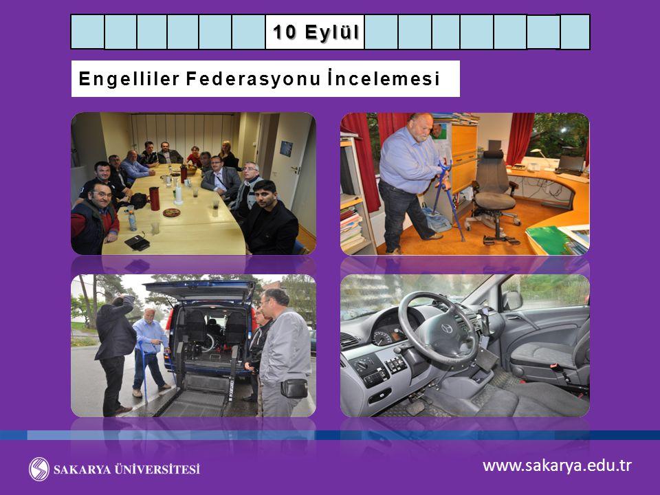 www.sakarya.edu.tr 10 Eylül Engelliler Federasyonu İncelemesi
