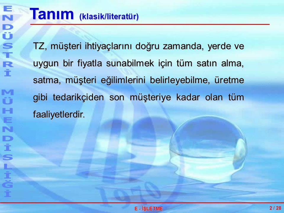 ERP II 13 / 28 E - İŞLETME SCM ERP CRM İŞ ZEKASI