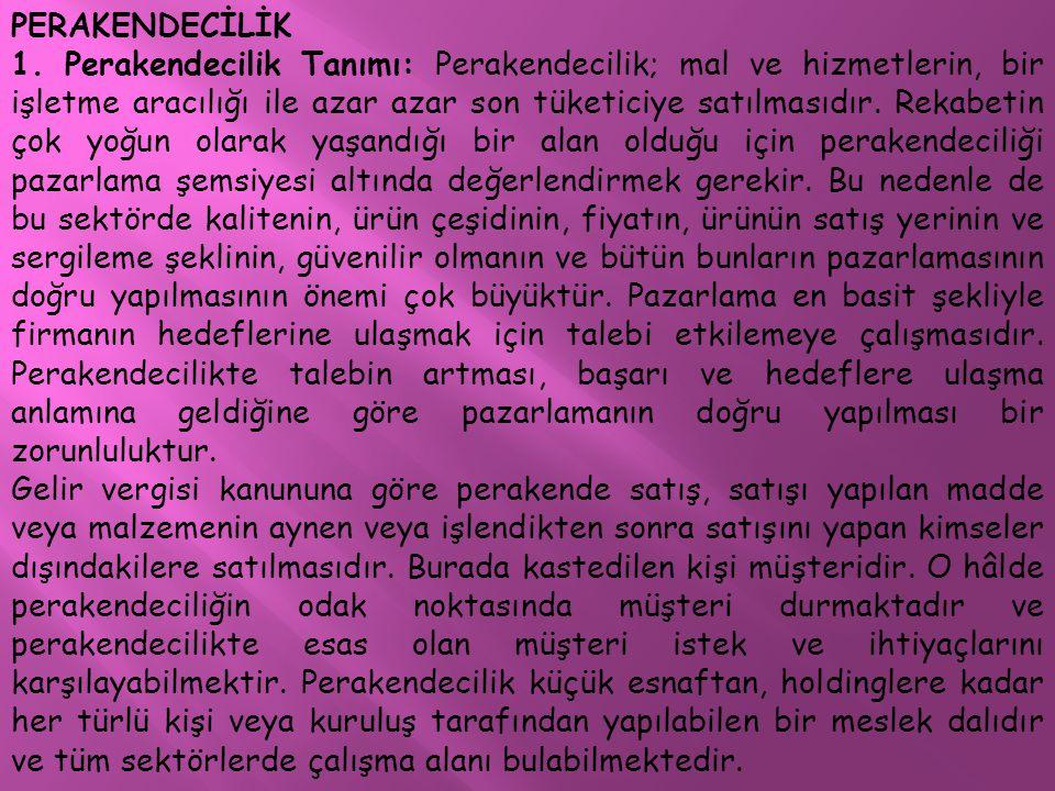 PERAKENDECİLİK 1.
