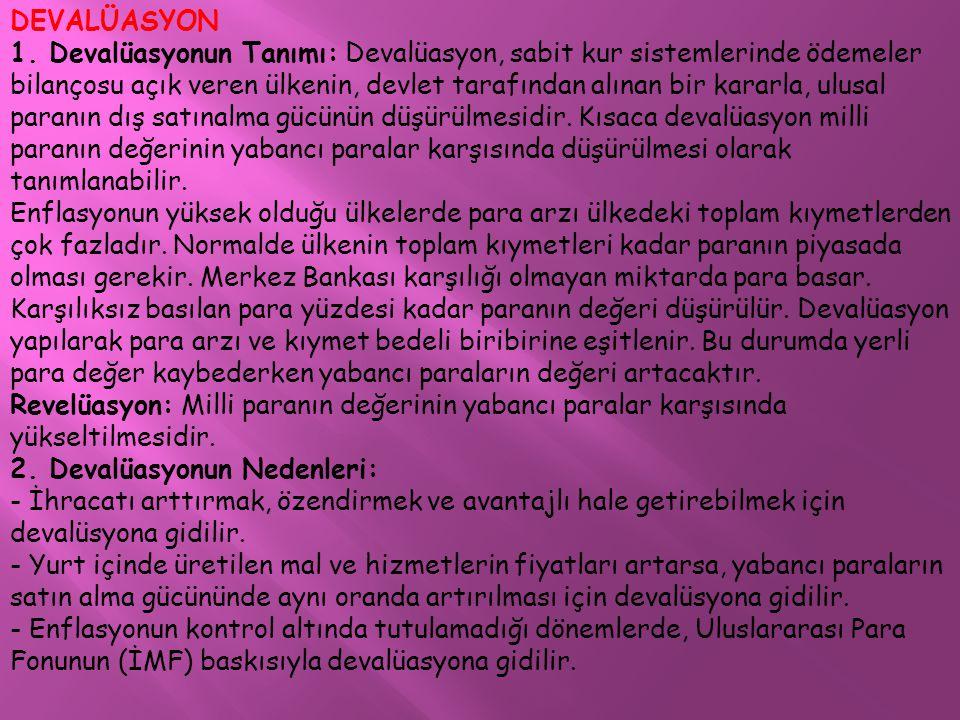 DEVALÜASYON 1.