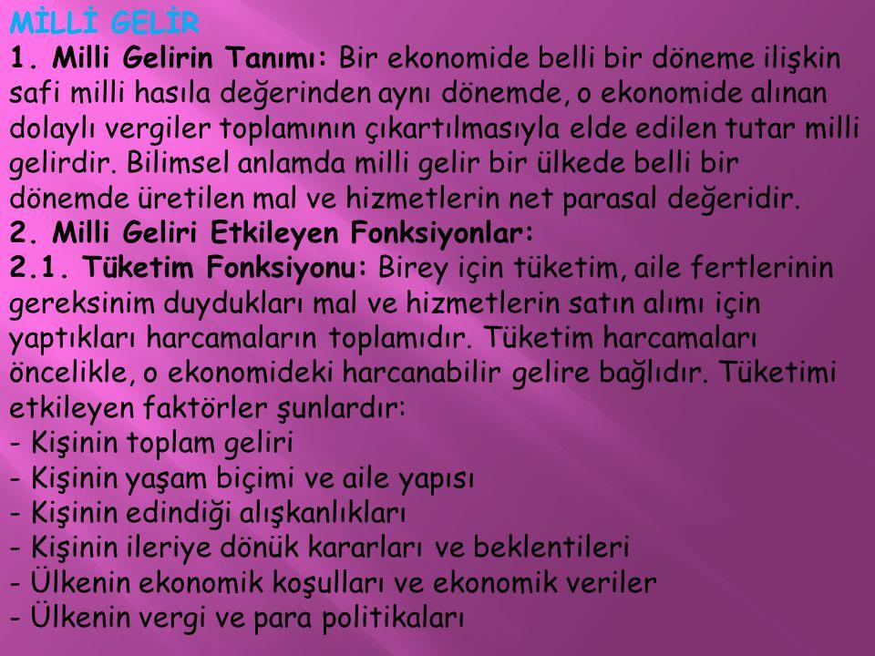 MİLLİ GELİR 1.