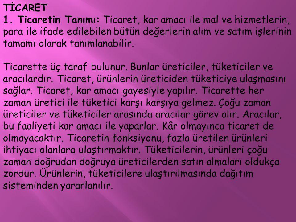 TİCARET 1.
