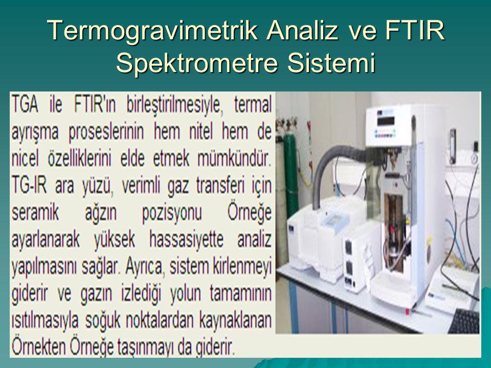 Termogravimetrik Analiz ve FTIR Spektrometre Sistemi