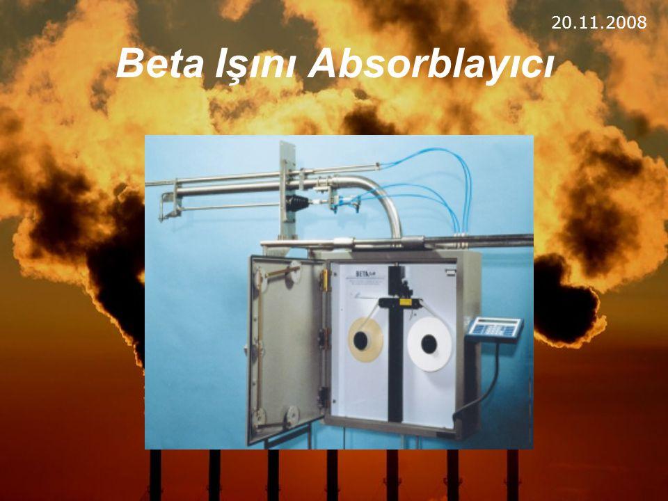 Beta Işını Absorblayıcı 20.11.2008
