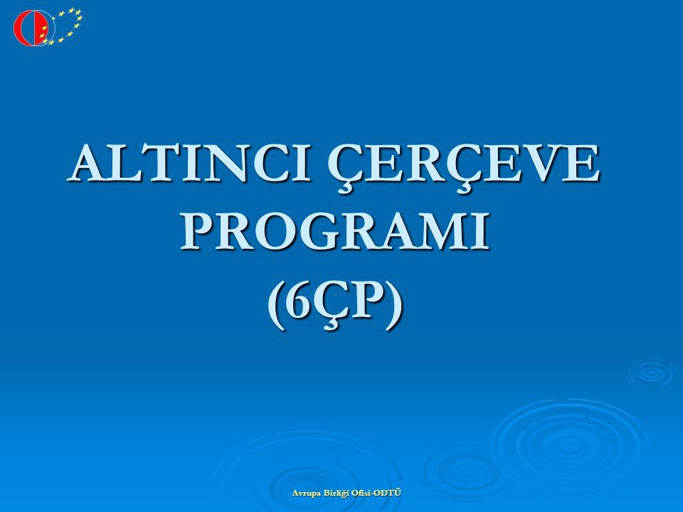 Avrupa Birliği Ofisi-ODTÜ ALTINCI ÇERÇEVE PROGRAMI (6ÇP)