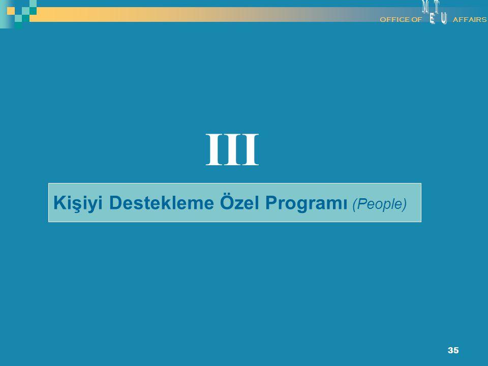 35 Kişiyi Destekleme Özel Programı (People) III OFFICE OFAFFAIRS