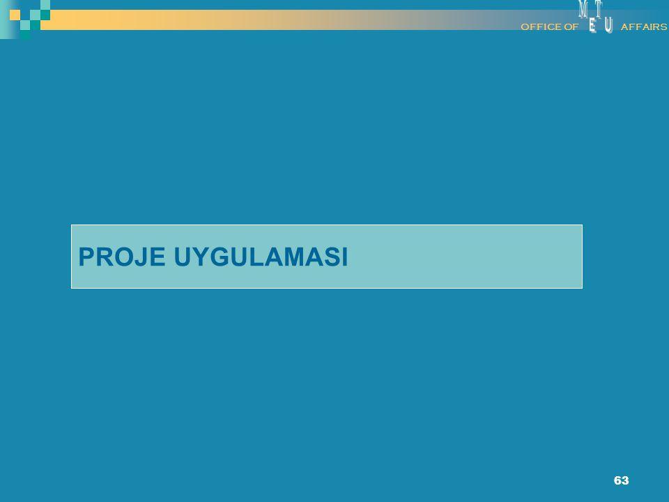 63 PROJE UYGULAMASI OFFICE OFAFFAIRS