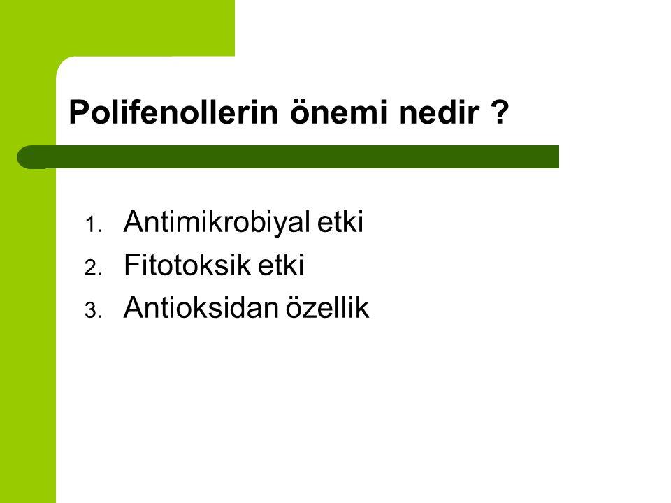Polifenol geri kazanımı Polifenoller özellikle gıda endüstrisinde antioksidan olarak çok kullanılan maddelerdir. Karasu doğal antioksidan kaynağı olma