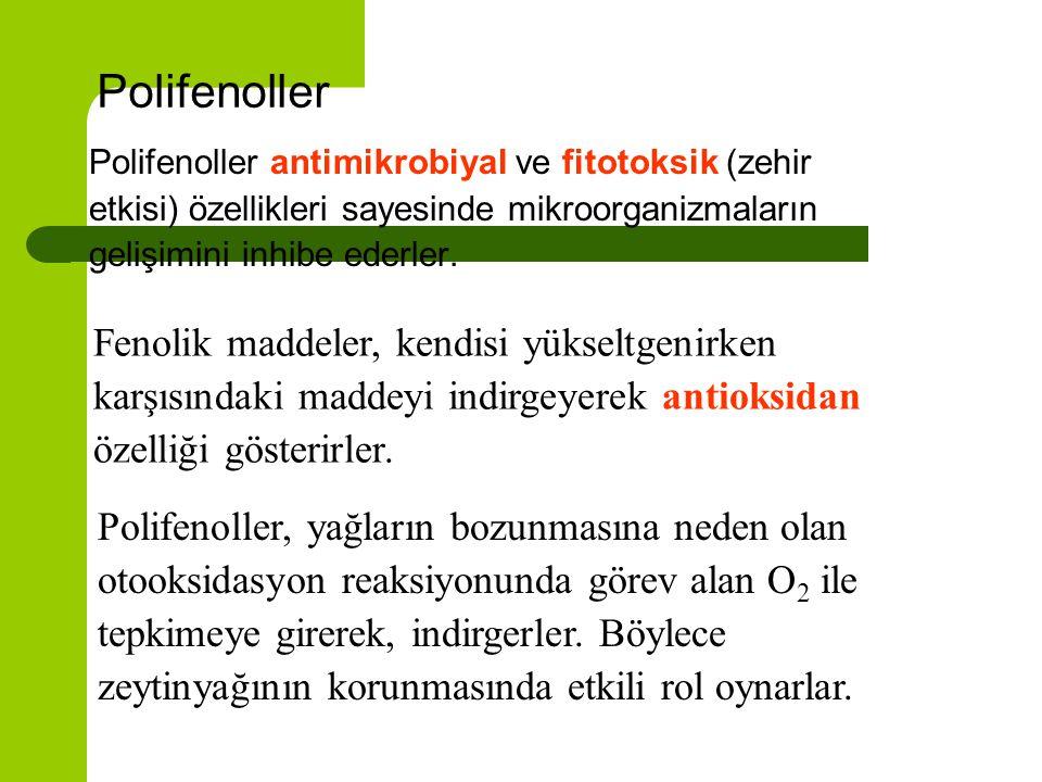 Polifenollerin önemi nedir ? 1. Antimikrobiyal etki 2. Fitotoksik etki 3. Antioksidan özellik