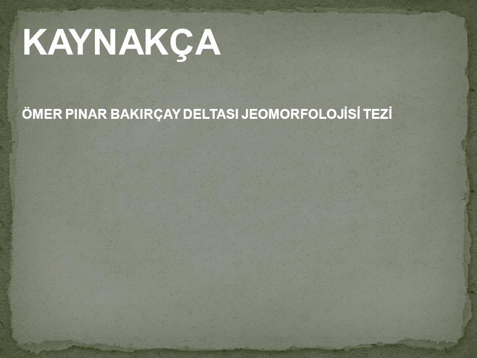 KAYNAKÇA ÖMER PINAR BAKIRÇAY DELTASI JEOMORFOLOJİSİ TEZİ