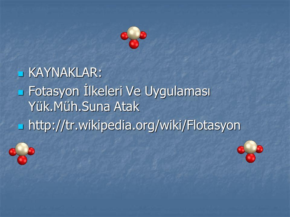 KAYNAKLAR: KAYNAKLAR: Fotasyon İlkeleri Ve Uygulaması Yük.Müh.Suna Atak Fotasyon İlkeleri Ve Uygulaması Yük.Müh.Suna Atak http://tr.wikipedia.org/wiki
