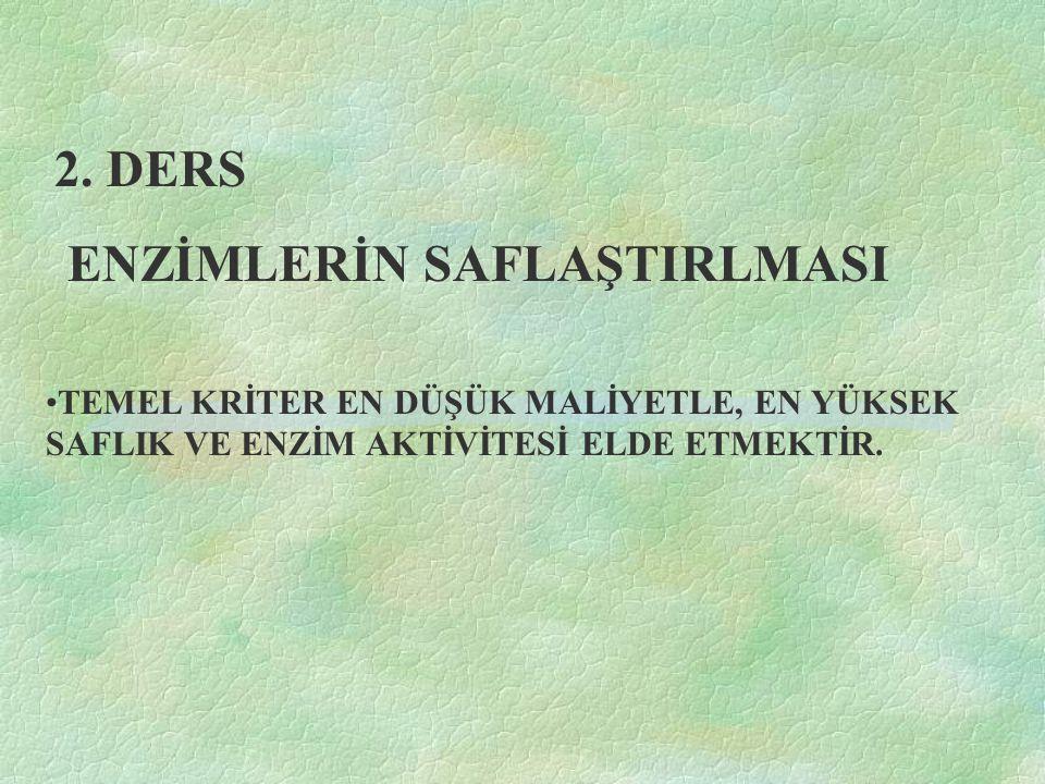 ENZİMLER BİYOLOJİK KATALİZÖRLERDİR.