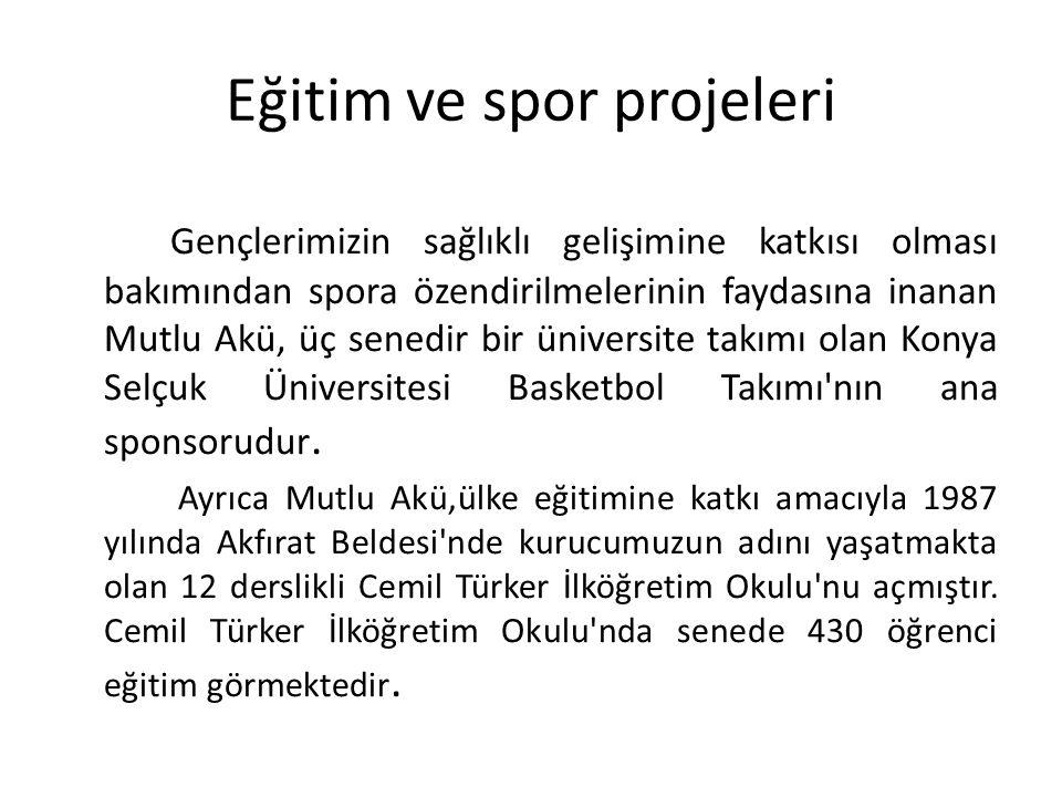 Eğitim ve spor projeleri Gençlerimizin sağlıklı gelişimine katkısı olması bakımından spora özendirilmelerinin faydasına inanan Mutlu Akü, üç senedir bir üniversite takımı olan Konya Selçuk Üniversitesi Basketbol Takımı nın ana sponsorudur.