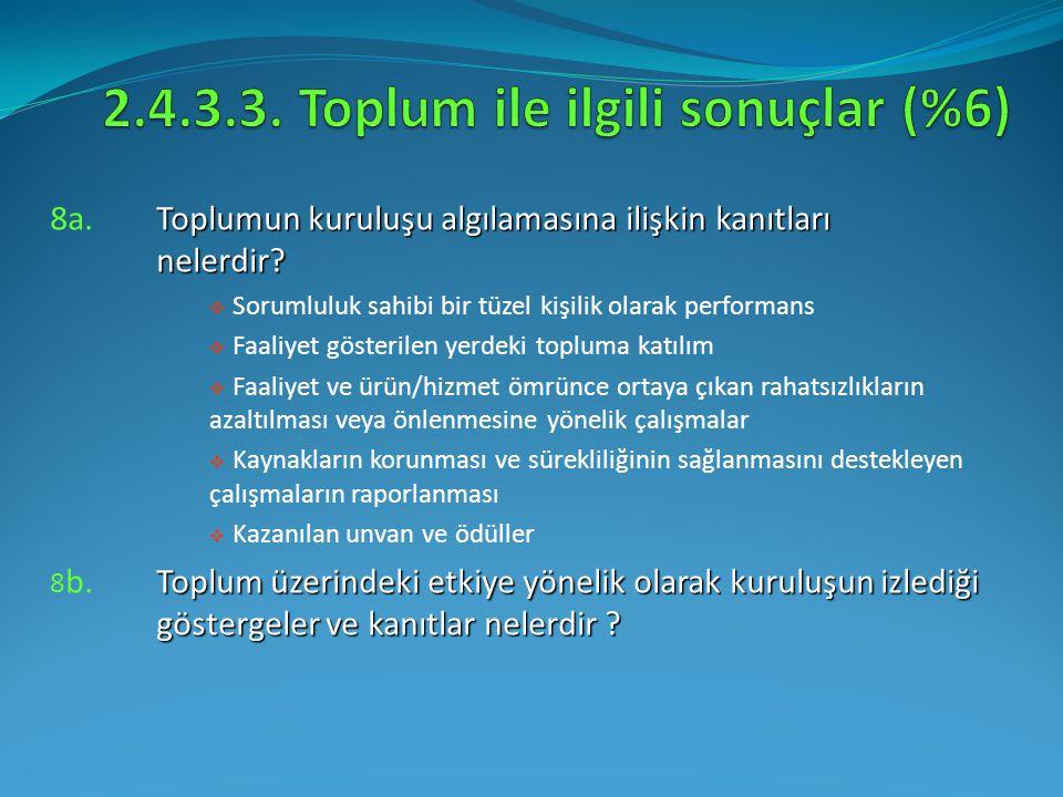 Toplumun kuruluşu algılamasına ilişkin kanıtları nelerdir? 8a.Toplumun kuruluşu algılamasına ilişkin kanıtları nelerdir?  Sorumluluk sahibi bir tüzel