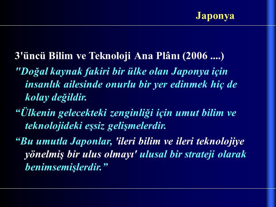 3'üncü Bilim ve Teknoloji Ana Plânı (2006....)