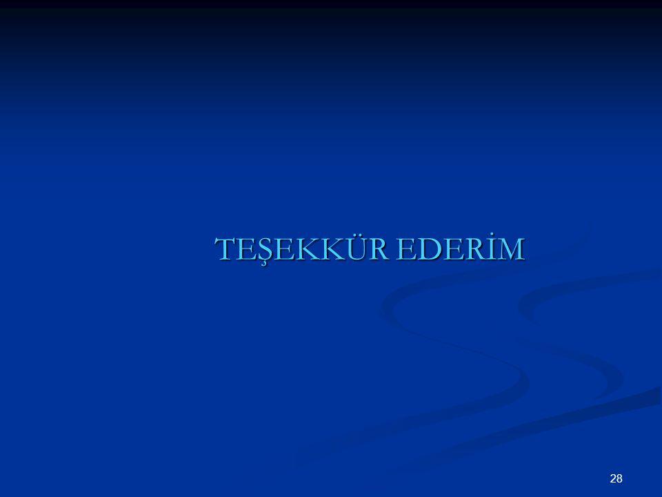TEŞEKKÜR EDERİM 28