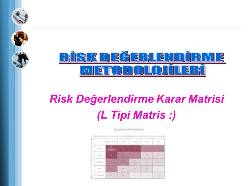 Risk Değerlendirme Karar Matrisi (L Tipi Matris :)