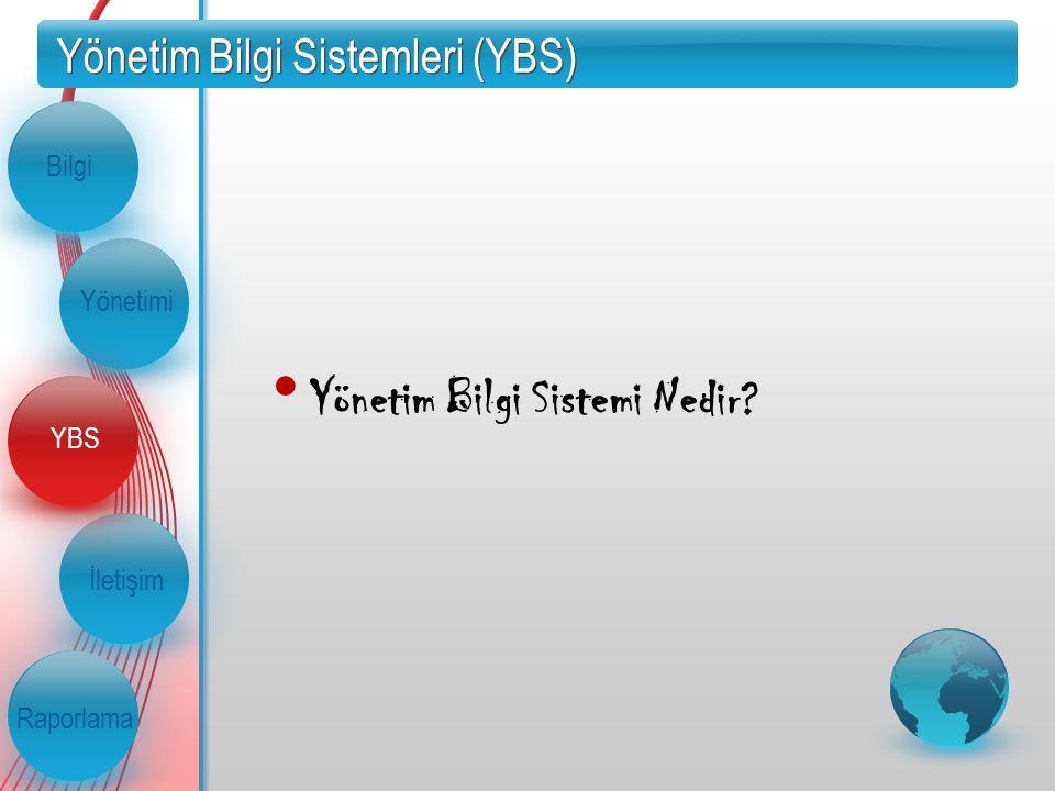 Yönetim Bilgi Sistemleri (YBS) Yönetim Bilgi Sistemi Nedir? İletişim Raporlama Bilgi Yönetimi YBS