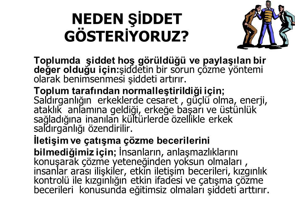 NEDEN Şİ DDET GÖSTER İ YORUZ.