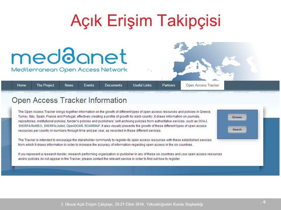 - 17 OpenDOAR - Türkiye 3.