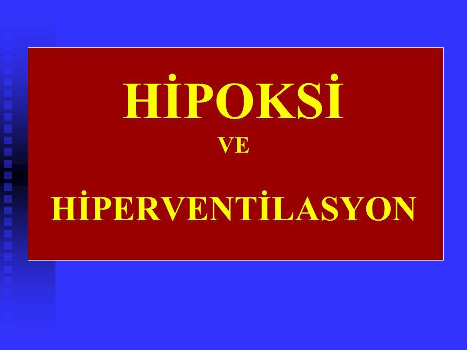 HİPOKSİ VE HİPERVENTİLASYON